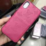 Soft  Leather Case Back Cover iPhone XR XS XS Max