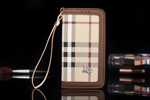 Stripes Leather Plain Edge Wallet CaseiPhoneXR, iPhoneXS, iPhoneXS, iPhone Max - Shop Louis Vuitton, Gucci & Hermes phone cases for iPhone & Samsung!