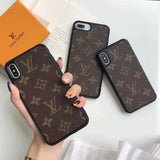 Monogram Canvas Classic Plain iPhone Case Back Cover  Apple iPhone 7 8 Plus X Xs Xr XSMax 11 Pro Max