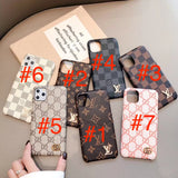 2019 arrival Leather Back Cover Card Slot iPhone 7 8 Plus Xr Xs XsMax 11 Pro Max