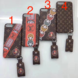 Embroidery Leather Case Cover Pedant iPhone 6 7 8 Plus X