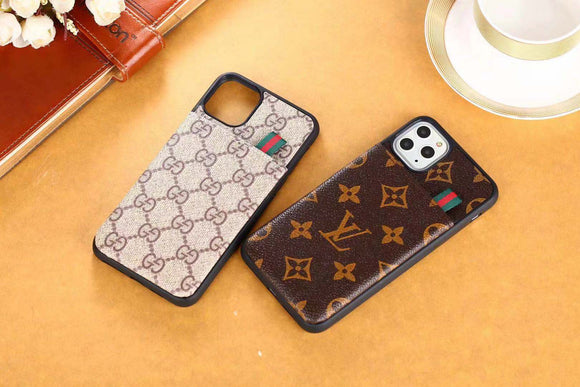 2019 Arrival  Three Card Slot Mini Wallet Back Cover Case iPhone 7 8 Plus Xr Xs Xs Max 11 Pro Max