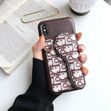 2019 Arrival Case Leather With Canvas Card Slot  iPhone 7 8 Plus X Xr Xs Xs Max 11 Pro Max
