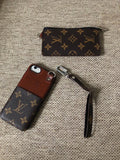 Brown Leather Multi Function Case Wallet iPhone XR XS XS max - Shop Louis Vuitton, Gucci & Hermes phone cases for iPhone & Samsung!