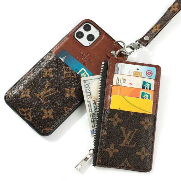 Leather Multi Function Zip Wallet Case Cover  iPhone 11/11 Pro/11Pro Max