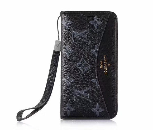 Black Squares  Leather Accent Case Cover iPhone XR XS XS MAX - Shop Louis Vuitton, Gucci & Hermes phone cases for iPhone & Samsung!