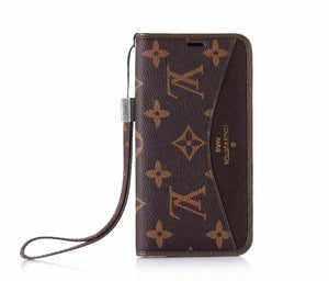 Folio Leather Wallet Case Cover iPhone 6 7 8 Plus X