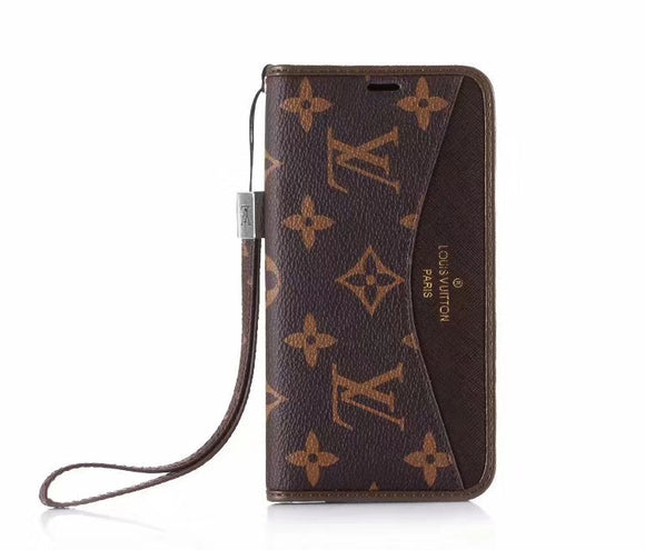 Brown Leather Accent Case Cover iPhone XR XS XS MAX - Shop Louis Vuitton, Gucci & Hermes phone cases for iPhone & Samsung!