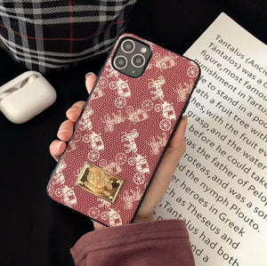 Fashion Canvas Design Golden Plate Back Cover Case iPhone 11 /11 Pro / 11Pro Max