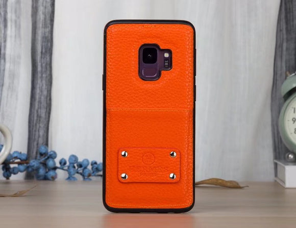 Leather Card Slot Back Cover Samsung Galaxy S9 S9 Plus Note 8
