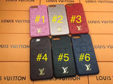 Embroidery Image Back Cover Case iPhone 6 7 8 Plus X - Shop Louis Vuitton, Gucci & Hermes phone cases for iPhone & Samsung!