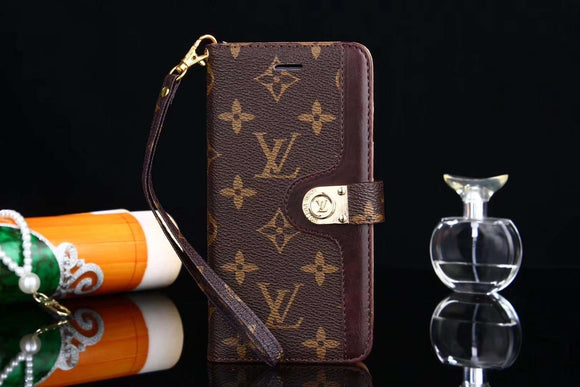 Brown Folio Wallet Leather Case Cover iPhone XR XS XS Max - Shop Louis Vuitton, Gucci & Hermes phone cases for iPhone & Samsung!