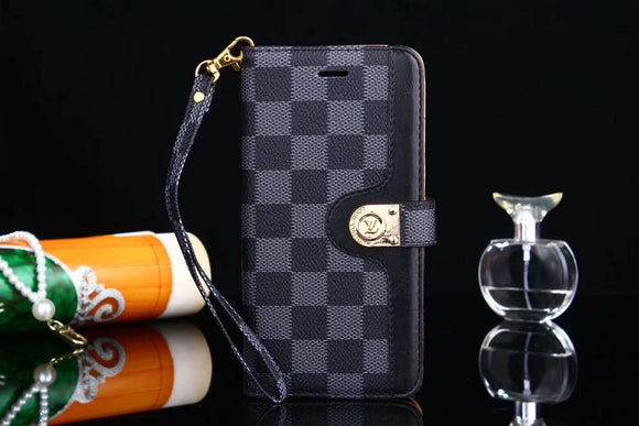 Black Squares Folio Wallet Leather Case Cover iPhone XR XS XS Max - Shop Louis Vuitton, Gucci & Hermes phone cases for iPhone & Samsung!