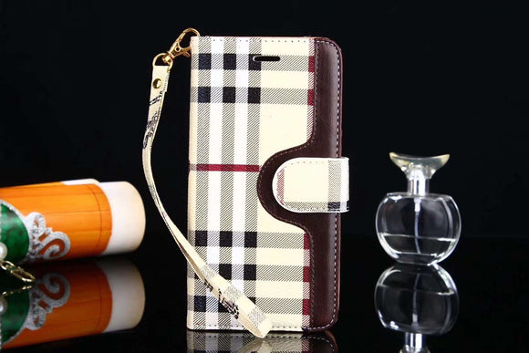 Stripes Folio Wallet Leather Case Cover iPhone XR XS XS Max - Shop Louis Vuitton, Gucci & Hermes phone cases for iPhone & Samsung!