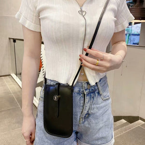 Black Leather Crossbody Purse Cell Phone Travel Bag Belt Holster Wallet Case for iPhone. 6 7 8 Plus X Xs Xr Xs Max 11 Pro Max