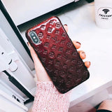 Gloss Leather Back Cover For iPhone 6 7 8 Plus X