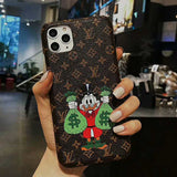 2020 Embroidery Brown Base McDuck Case Cover iPhone 7 8 Plus X Xr Xs  XsMax 11 Pro Max