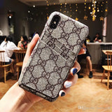 Duel Card Slot Cover Case For iPhone 6 7 8 Plus X