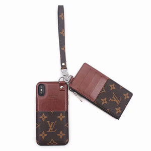 Brown Leather Multi Function Case Wallet iPhone XR XS XS max
