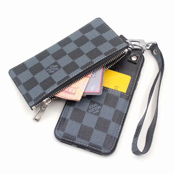 Black Leather Multi Function Case Wallet iPhone XR XS XS max - Shop Louis Vuitton, Gucci & Hermes phone cases for iPhone & Samsung!