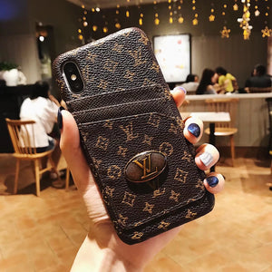 Small Letters Leather Card Slot Case iPhone XR XS XS Max - Shop Louis Vuitton, Gucci & Hermes phone cases for iPhone & Samsung!