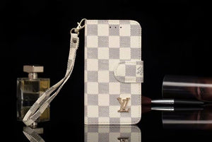 White Squares Leather Case  Samsung Galaxy S 6 7 8 9 Edge Plus Note 5 8 9 - Shop Louis Vuitton, Gucci & Hermes phone cases for iPhone & Samsung!
