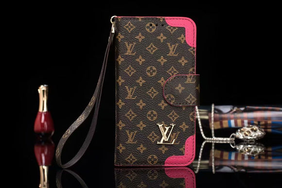 Brown Leather Rose Edges Wallet Case iPhone XR XS XS MAX - Shop Louis Vuitton, Gucci & Hermes phone cases for iPhone & Samsung!