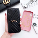 Leather Card Slot Case Cover iPhone  XR XS XS Max - Shop Louis Vuitton, Gucci & Hermes phone cases for iPhone & Samsung!