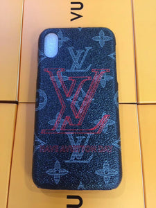 Black Base Red Logo Case Cover iPhone XR XS XS max - Shop Louis Vuitton, Gucci & Hermes phone cases for iPhone & Samsung!