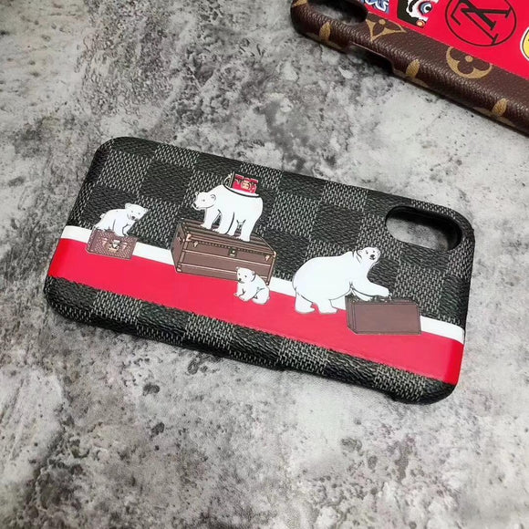White Bear Case Cover iPhone XR XS XS max - Shop Louis Vuitton, Gucci & Hermes phone cases for iPhone & Samsung!