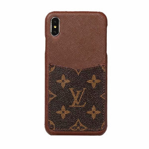 2019 Arrival Grain Leather Back Cover Case iPhone 7 8 Plus X Xr Xs Xs Max - Shop Louis Vuitton, Gucci & Hermes phone cases for iPhone & Samsung!