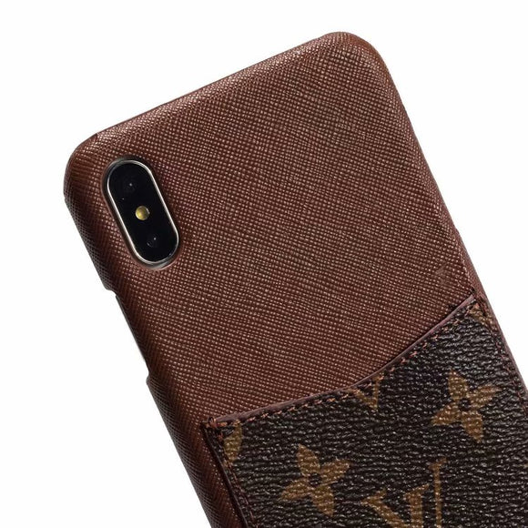 2019 Arrival Grain Leather Back Cover Case iPhone 7 8 Plus X Xr Xs Xs Max