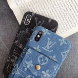 2019 Arrival Denim Canvas Back Cover Case iPhone 7 8 Plus X Xr Xs Xs Max - Shop Louis Vuitton, Gucci & Hermes phone cases for iPhone & Samsung!