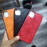 H Leather Back Cover Case iPhone 7/8/7P/8P/X/Xs/Xr/XsMax/11 /11Pro/11ProMax