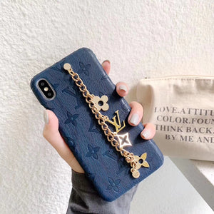 2019 arrival Leather L Chain Case Cover iPhone 7 8 Plus X XS XR Xs Max - Shop Louis Vuitton, Gucci & Hermes phone cases for iPhone & Samsung!