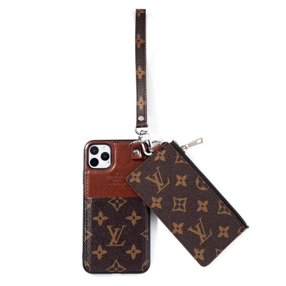 Leather Multi Function Zip Wallet Case Cover  iPhone 11/11 Pro/11Pro Max - Shop Louis Vuitton, Gucci & Hermes phone cases for iPhone & Samsung!