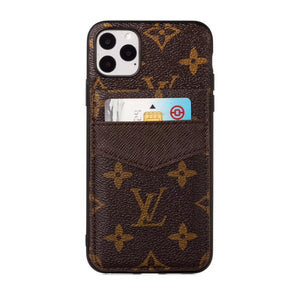 2019 Arrival Accent Leather TPU Frame Card Slot Case Cover iPhone 11 / Pro /Pro Max - Shop Louis Vuitton, Gucci & Hermes phone cases for iPhone & Samsung!