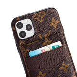 2019 Arrival Accent Leather TPU Frame Card Slot Case Cover iPhone 11 / Pro /Pro Max