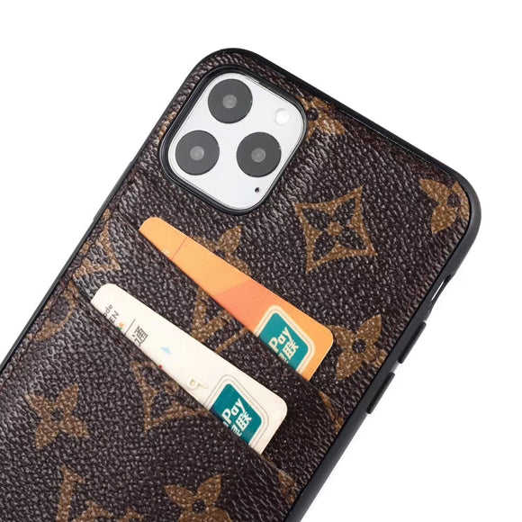 2019 Slim Back Cover Case Card Holder iPhone 7/8/Plus/X/Xs/Xr/Xs Max/11/11Pro/11Max - Shop Louis Vuitton, Gucci & Hermes phone cases for iPhone & Samsung!