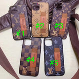 2019 Arrival Leather Back Cover Hand Strap Case iPhone 11/11 Pro/11Pro Max - Shop Louis Vuitton, Gucci & Hermes phone cases for iPhone & Samsung!