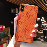 H Leather Back Cover Case iPhone 7/8/7P/8P/X/Xs/Xr/XsMax/11 /11Pro/11ProMax - Shop Louis Vuitton, Gucci & Hermes phone cases for iPhone & Samsung!