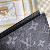 Mens Women Wallet Purse Black Genuine Leather  PASSPORT COVER