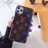 Iconic Monogram Leather Canvas  Playful Hand Ornament iPhone  11 Pro Max Case Cover