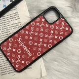 Supreme Style Leather Back Cover Case iPhone 11/11 Pro/11Pro Max - Shop Louis Vuitton, Gucci & Hermes phone cases for iPhone & Samsung!