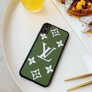 Fashion Green Base Case For iPhone 7 8 Plus X XR XS XS Max