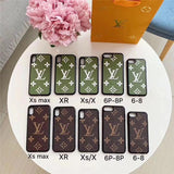 Fashion Brown Base Case For iPhone 7 8 Plus X XR XS XS Max