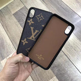 Brown LN Case For Iphone 7 8 Plus X XR XS XS Max