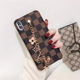 2019 Arrival Leather Back Cover Pendant Chain iPhone 7 8 Plus Xr Xs XsMax 11 Pro Max
