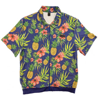 Tropical Oasis Terry Cloth Zip Up