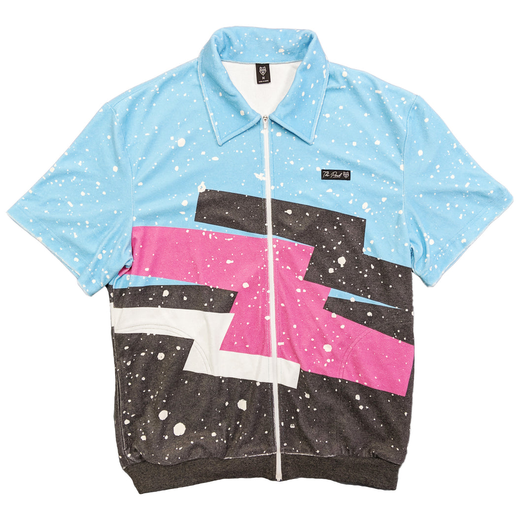 Retro Vibes Zip Up Shirt